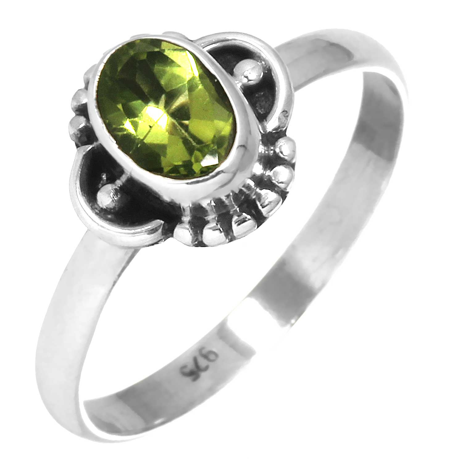 wholesale Sterling Silver Gemstone Ring (rg719prf_8)