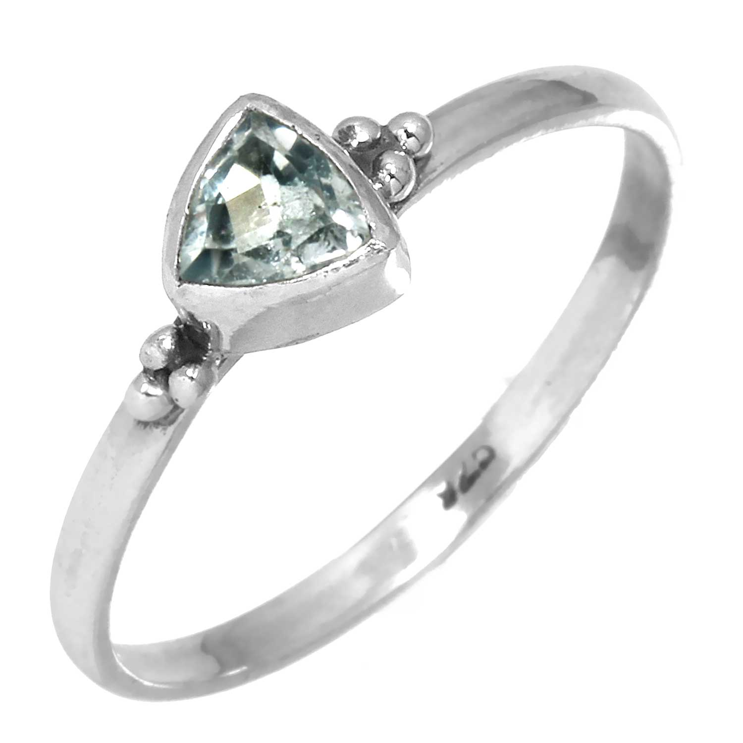 wholesale Sterling Silver Gemstone Ring (rg801btpf_6)