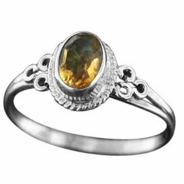 Sterling Silver Gemstone Ring (rg803ctf_8)