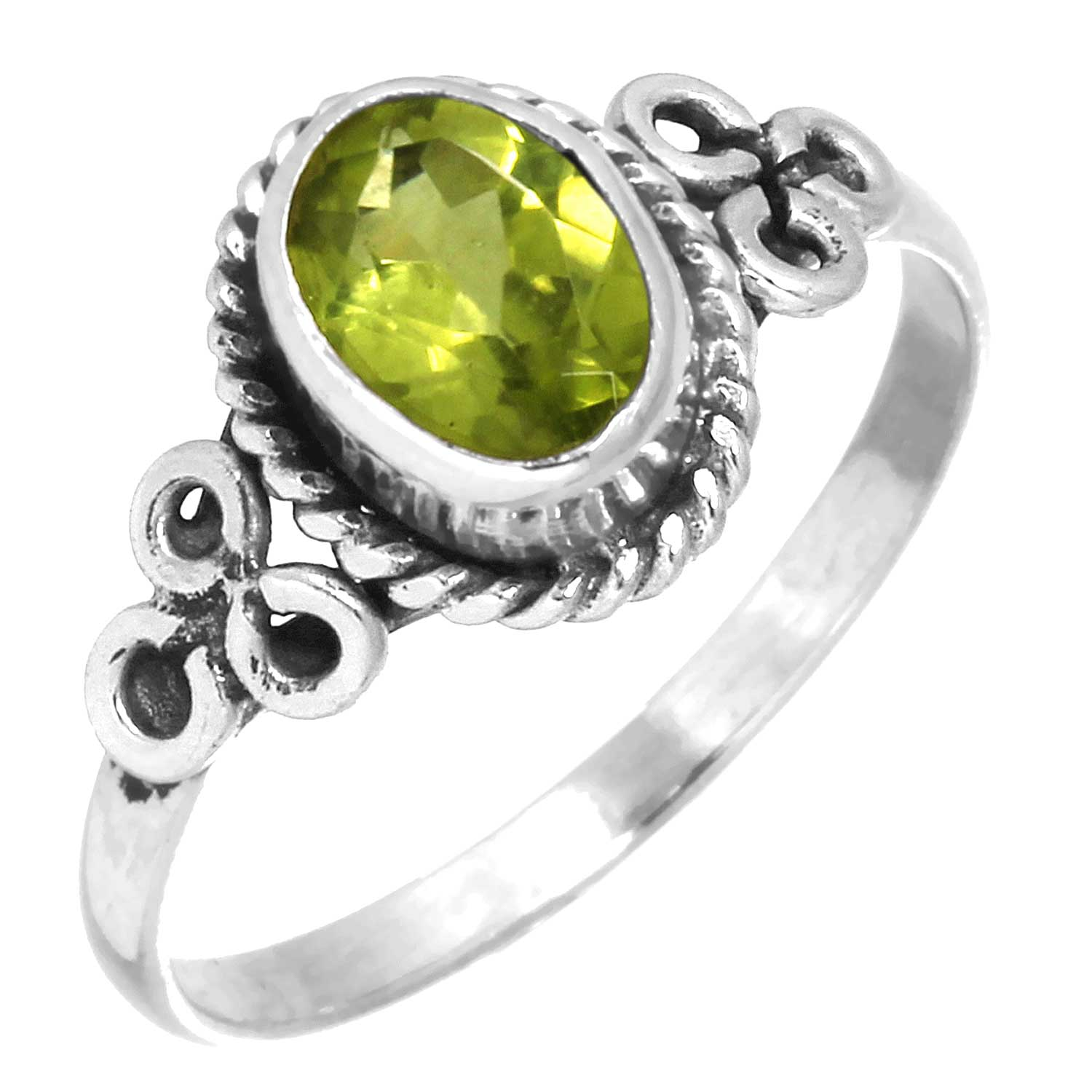 wholesale Sterling Silver Gemstone Ring (rg803prf_10)