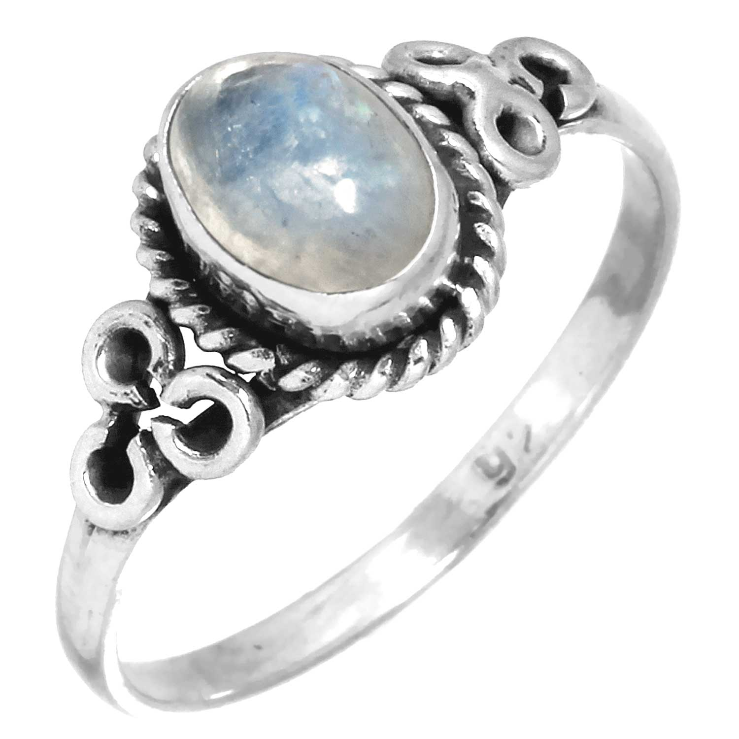 wholesale Sterling Silver Gemstone Ring (rg803rm_9)