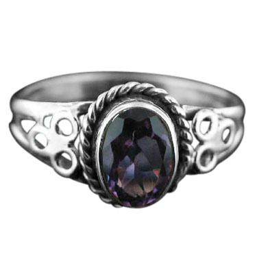 wholesale Sterling Silver Gemstone Ring (rg803amef_6)