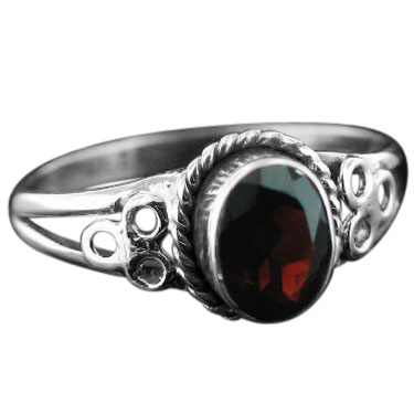 wholesale Sterling Silver Gemstone Ring (rg803grf)