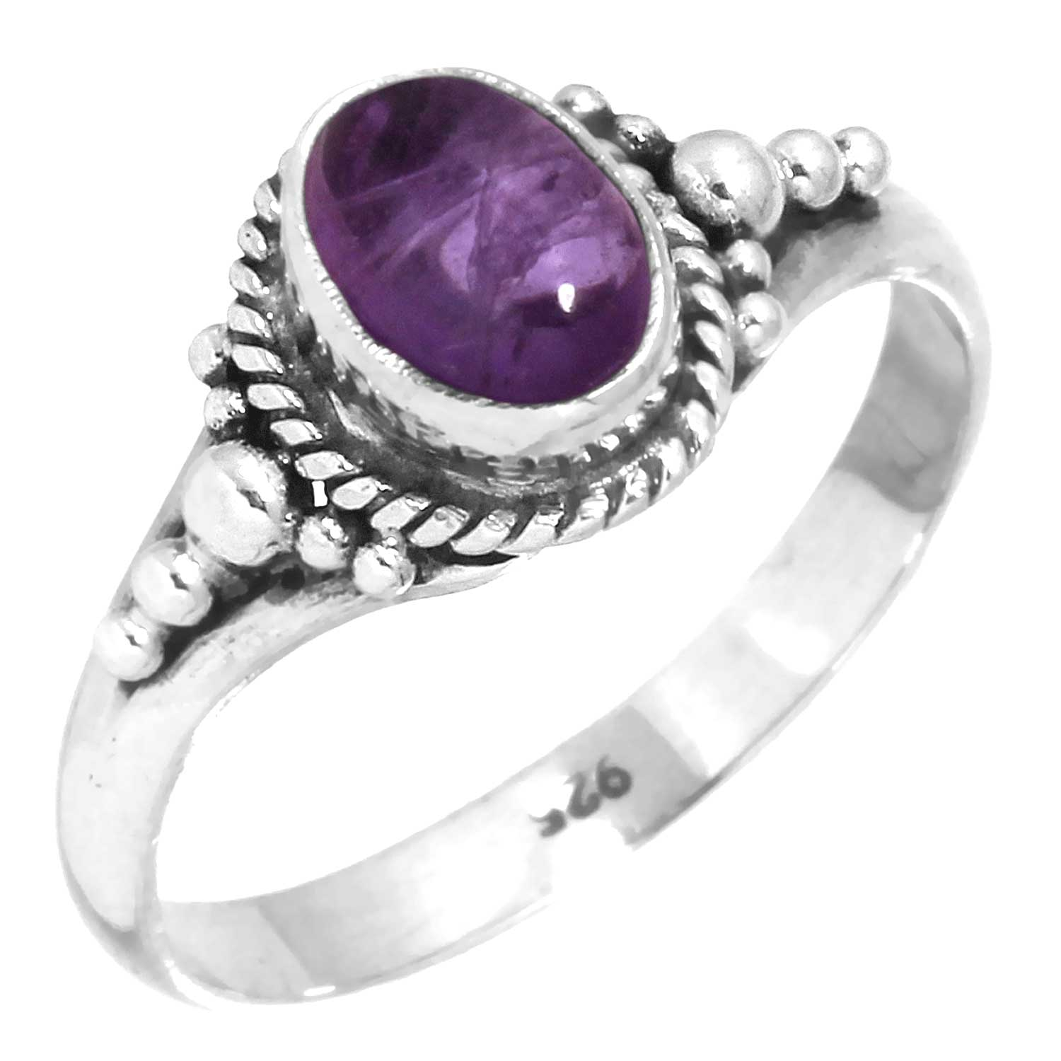 wholesale Sterling Silver Gemstone Ring (rg806ame)