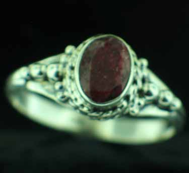 wholesale Sterling Silver Gemstone Ring (rg806rbf_9)