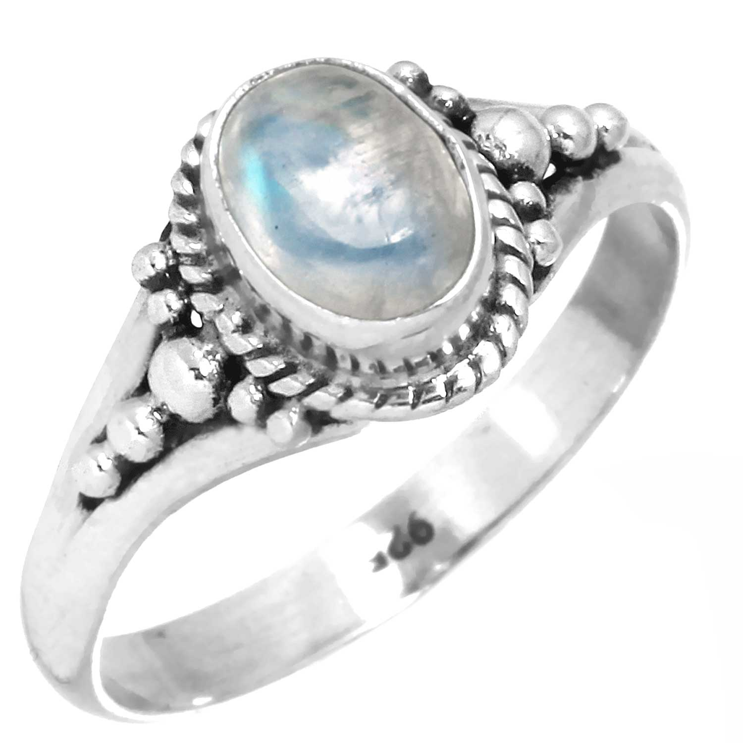 wholesale Sterling Silver Gemstone Ring (rg806rm_6)