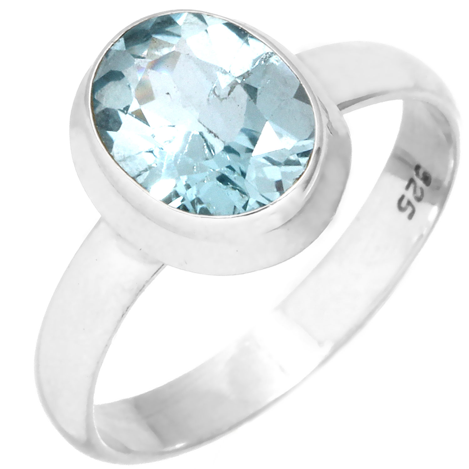 wholesale Wholesale Sterling Silver Gemstone Ring (rg970btpf)