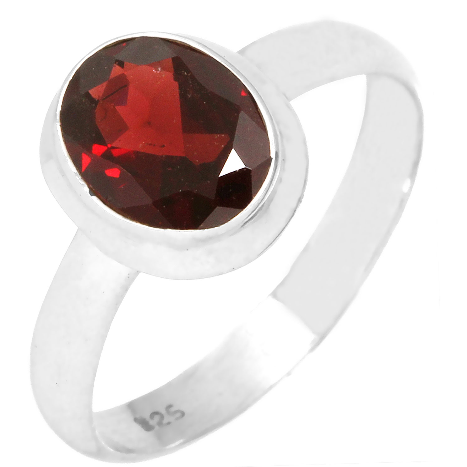 wholesale Wholesale Sterling Silver Gemstone Ring (rg970grf_10)