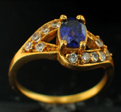wholesale 24k Gold Plated Ring (rgg162p_8)