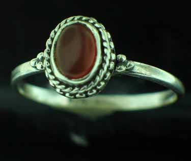Sterling Silver Gemstone Ring (rn107bcar_9)
