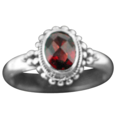 wholesale Sterling Silver Gemstone Ring (rn107grf_10)