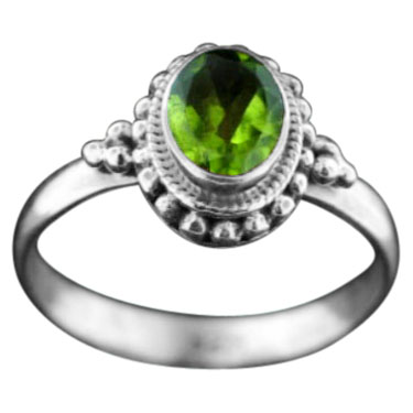 wholesale Sterling Silver Gemstone Ring (rn107prf)