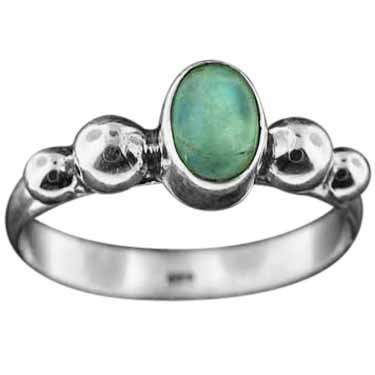 Sterling Silver Gemstone Ring (rn108brm_9)