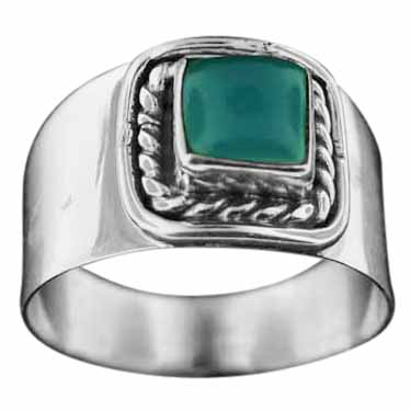 wholesale Sterling Silver Gemstone Ring (rn114bl_8)