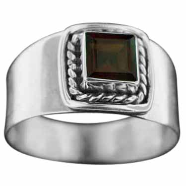 Sterling Silver Gemstone Ring (rn114grf)