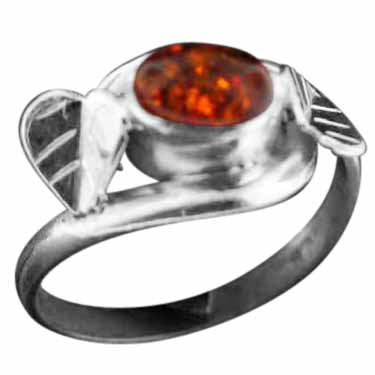 Sterling Silver Gemstone Ring (rn39amb_6)