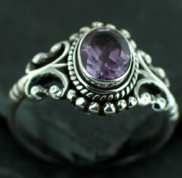 Sterling Silver Gemstone Ring (rn40amef)