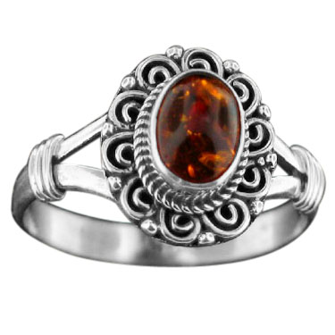 Sterling Silver Gemstone Ring (rn831rm)