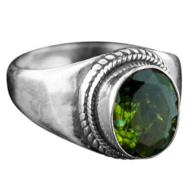 wholesale Sterling Silver Gemstone Peridot Ring (rns200prf)