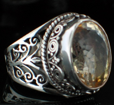 wholesale Large Sterling Silver Gemstone Ring (rns285tpf)