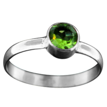 Stackable Ring - silver gemstone (rst02prf_6)