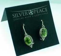 Wholesale Silver Peace Marketing Kit (Product ID = SP_EarringCards)